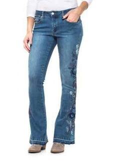 Philosophy Floral Embroidered Flare Jeans (For Women)