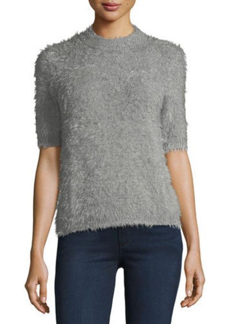 Philosophy Philosophy Fuzzy Short-Sleeve Pullover Sweater ...