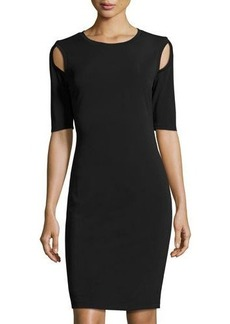 Philosophy Half-Sleeve Shoulder-Cutout Sheath Dress