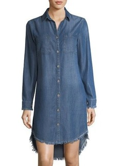 Philosophy Long-Sleeve Button-Front Chambray Tunic