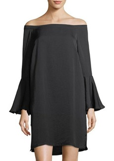 Philosophy Off-The-Shoulder Bell-Sleeve Dress