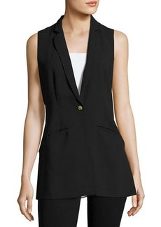Philosophy One-Button Back-Ruffle Vest