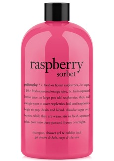 philosophy raspberry sorbet ultra rich 3-in-1 shampoo, shower gel and bubble bath, 16 oz