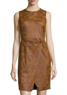 Philosophy Sleeveless Faux-Suede Dress
