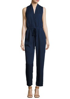 Philosophy Sleeveless Faux-Wrap Jumpsuit