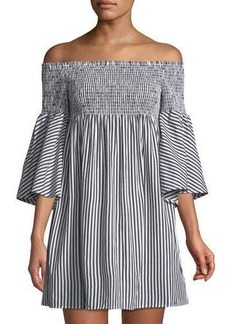 Philosophy Smocked Off-The-Shoulder Mini Dress