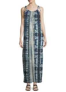 Philosophy Tie-Shoulder Tie-Dye Maxi Dress