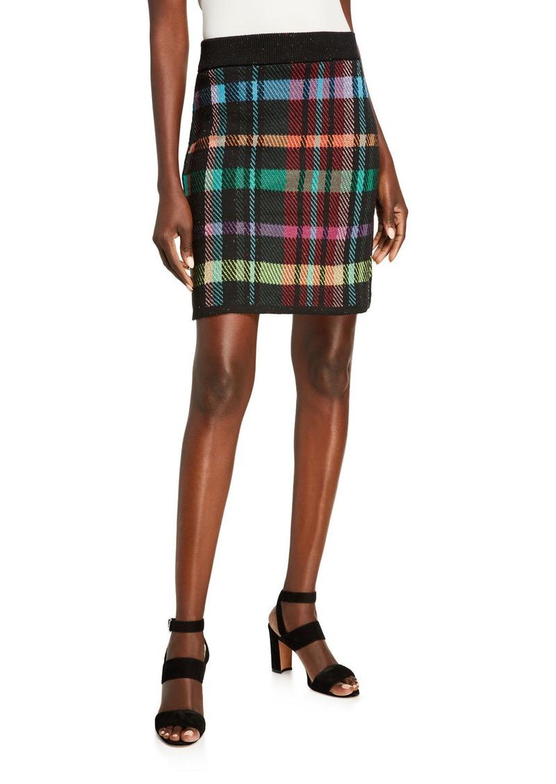 Philosophy Plaid Pull-On Skirt