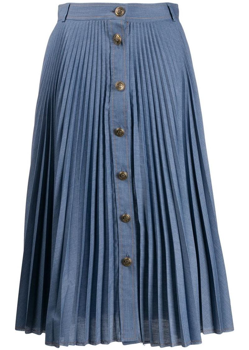 Philosophy pleated A-line midi skirt