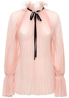 Philosophy Pleated Chiffon Shirt