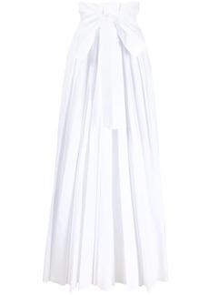 Philosophy pleated cotton maxi skirt