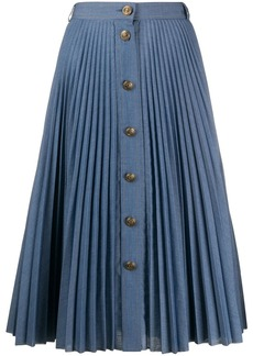 Philosophy pleated denim skirt
