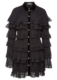 Philosophy Pleated Mini Dress with Lace