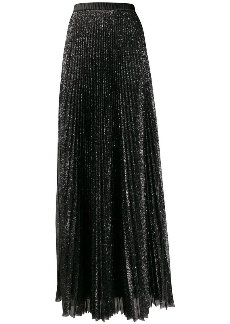 Philosophy pleated tulle lurex skirt