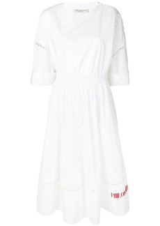 Philosophy poplin logo dress