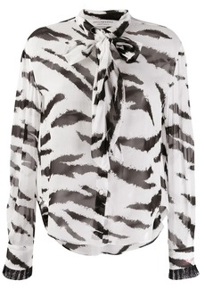 Philosophy printed bow blouse