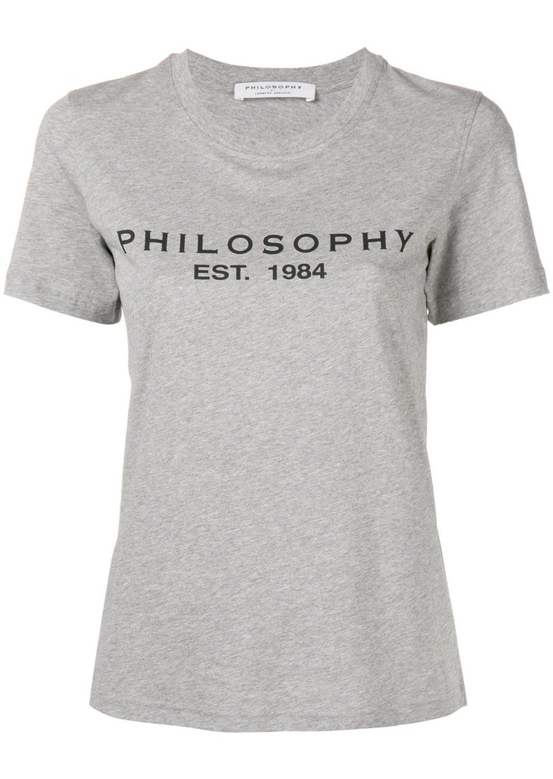 Philosophy printed logo T-shirt