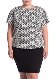 Philosophy Printed Short Sleeve Shirt (Plus Size)