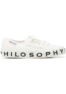 Philosophy printed sole lace sneakers