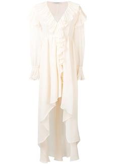 Philosophy ruffled asymmetric dress