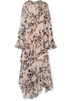 Philosophy Ruffled Floral-print Crepe De Chine Midi Dress