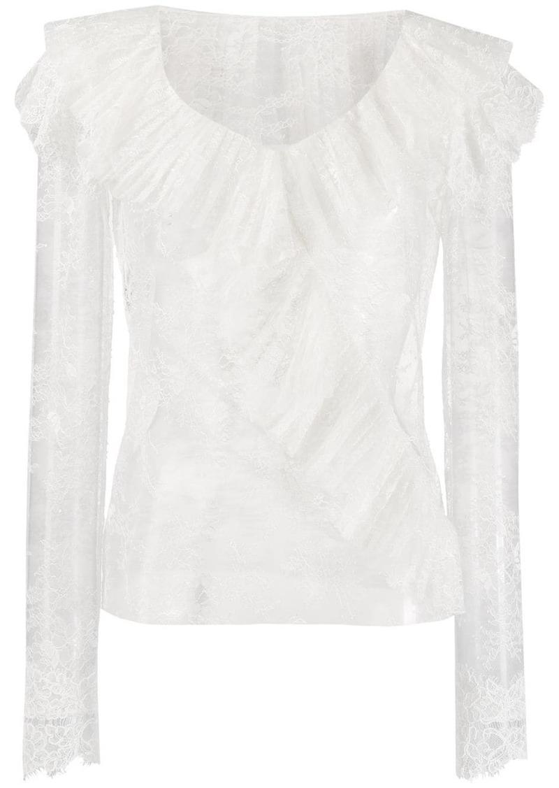 Philosophy ruffled lace blouse