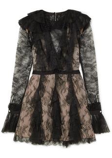 Philosophy Ruffled Lace Mini Dress