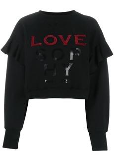 Philosophy sequin-embellished logo sweatshirt