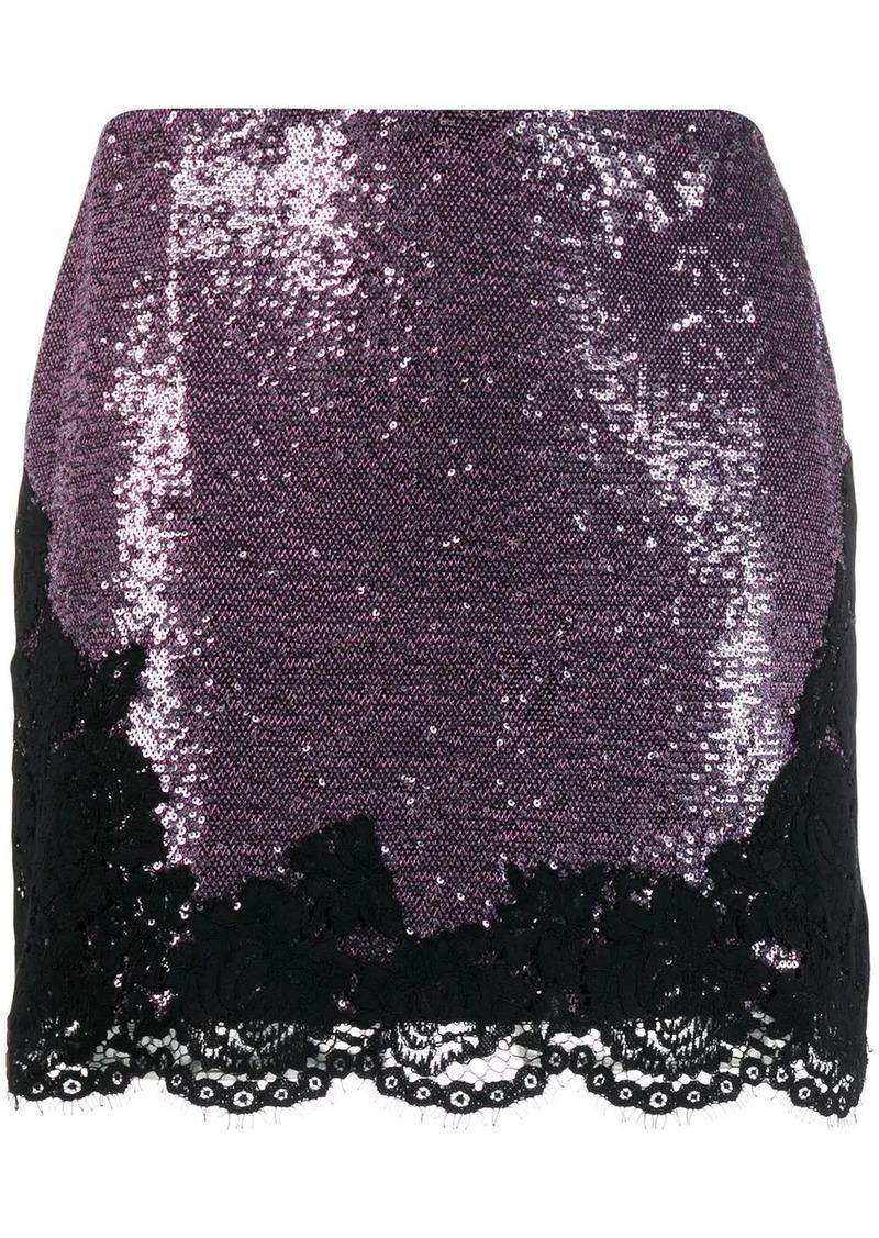 Philosophy sequin embellished mini skirt