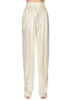 Philosophy Sequined Wide Leg Pants