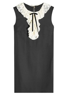 Philosophy Shift Dress with Virgin Wool and Lace
