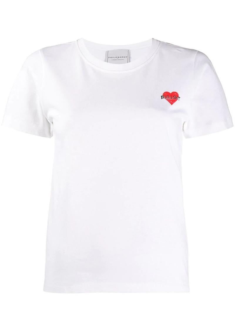 Philosophy short sleeved T-shirt