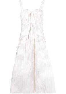 Philosophy sleeveless pinstripe dress