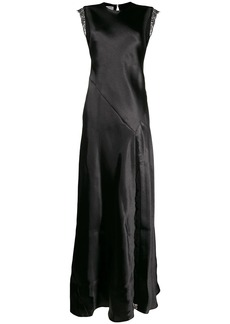 Philosophy sleeveless satin gown