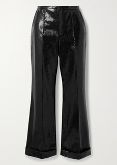 Philosophy Snake-effect Faux Leather Straight-leg Pants