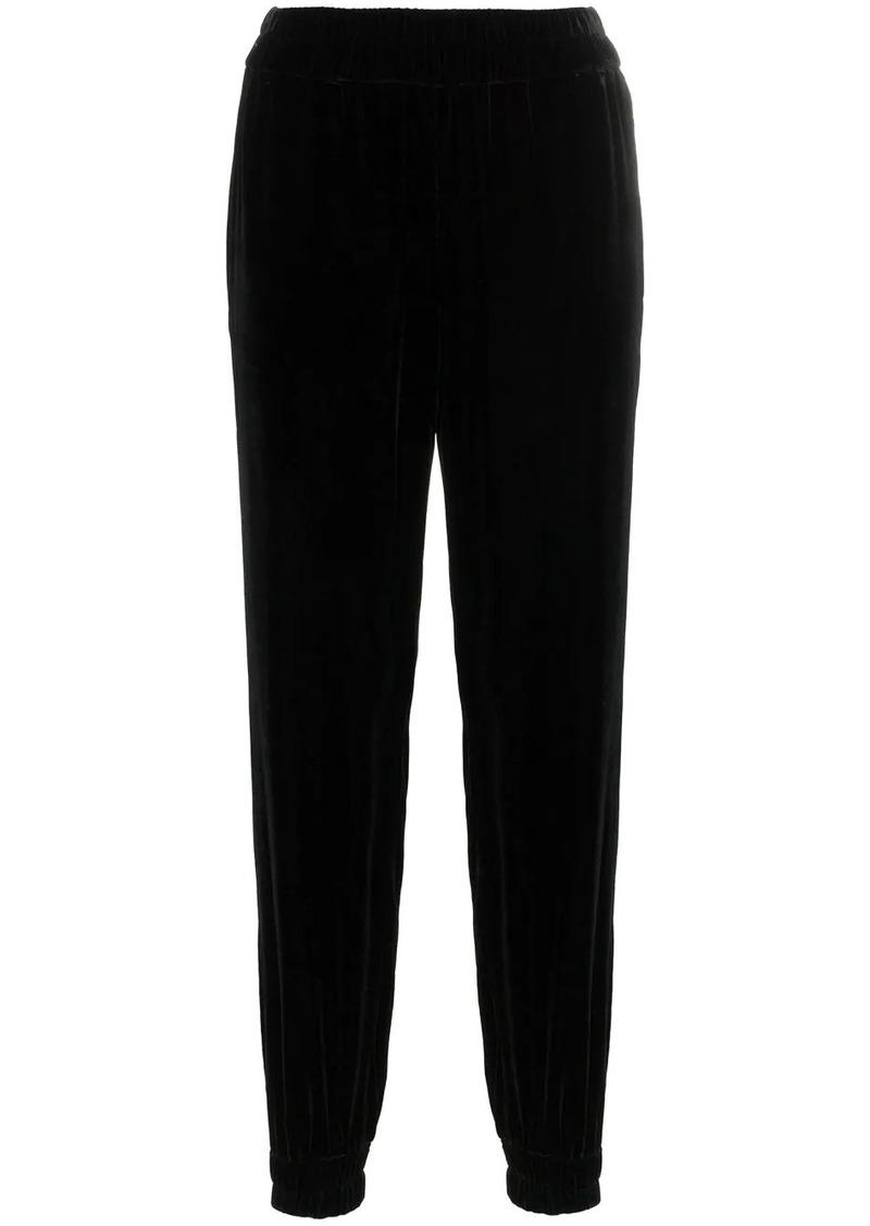 Philosophy stripe velvet track pants