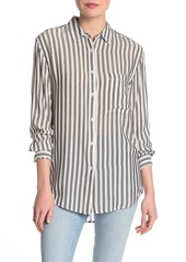 Philosophy Striped Button Front Shirt