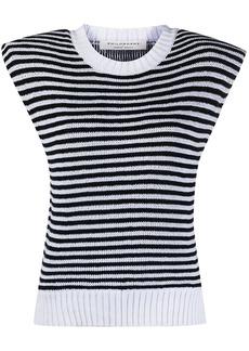 Philosophy striped print knit vest