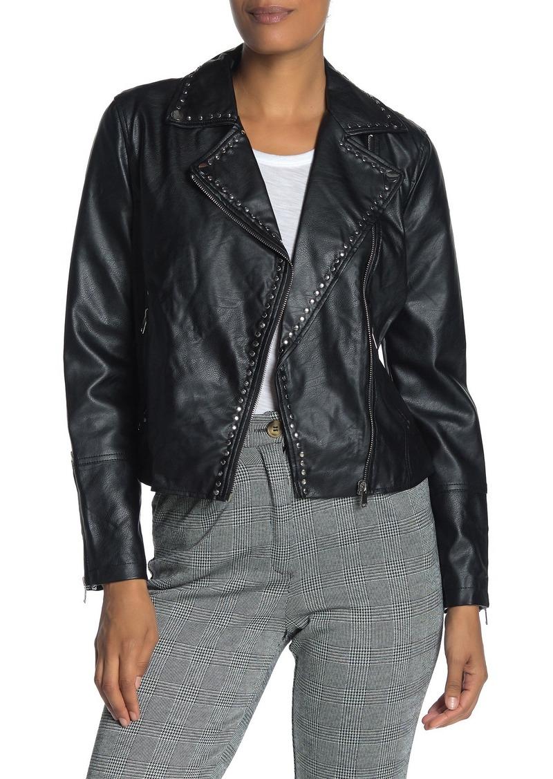 Philosophy Studded Faux Leather Moto Jacket