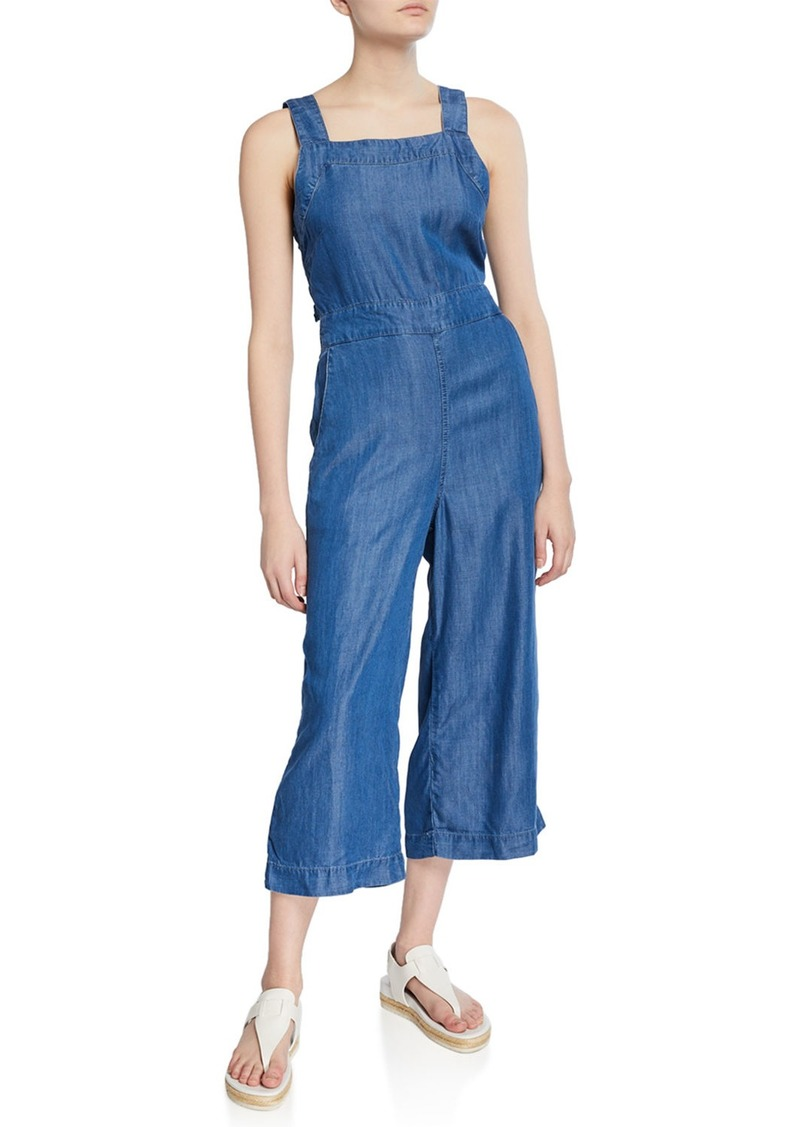 Philosophy Tie-Back Wide-Leg Chambray Jumpsuit