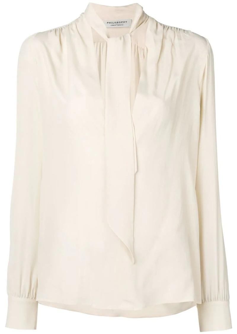 Philosophy tie top blouse