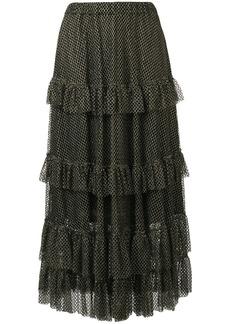 Philosophy tiered ruffled skirt
