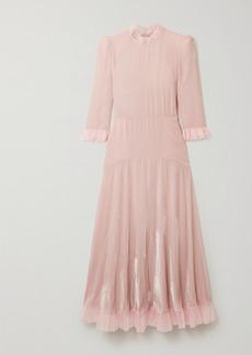 Philosophy Tulle-trimmed Velvet Midi Dress