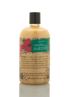 Philosophy vanilla bean nutmeg shampoo, shower gel & bubble bath