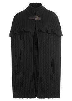 Philosophy Wool Cable Knit Cape