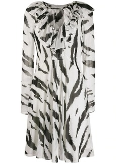 Philosophy zebra print flard dress