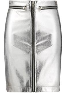 Philosophy zip-up mini skirt