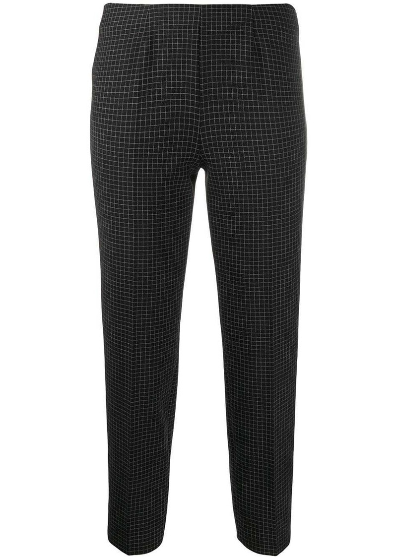 Piazza Sempione cropped check trousers