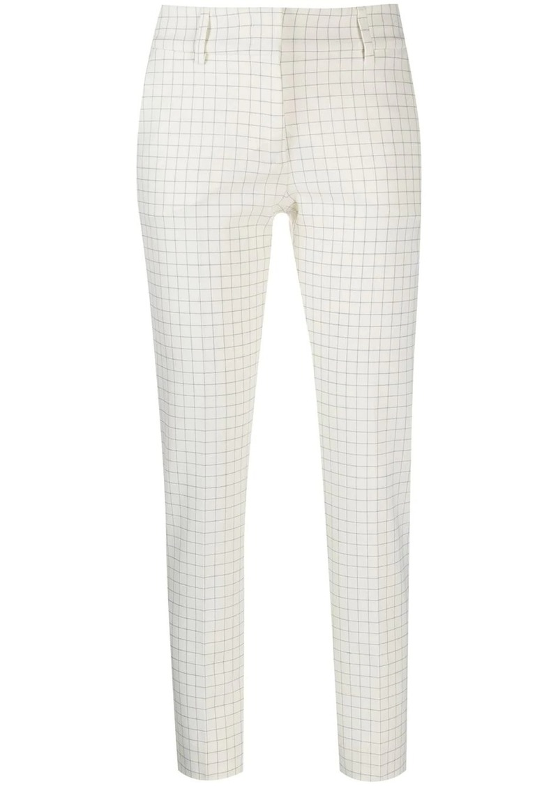 Piazza Sempione tapered check trousers