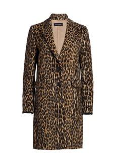 Piazza Sempione Animalier Wool-Blend Coat